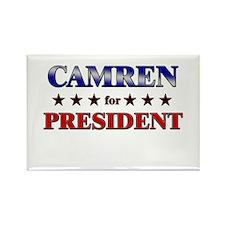 CAMREN for president Rectangle Magnet