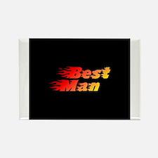 Best Man - Blazed Rectangle Magnet