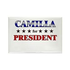 CAMILLA for president Rectangle Magnet