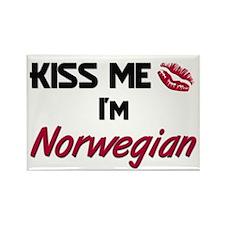 Kiss me I'm Norwegian Rectangle Magnet