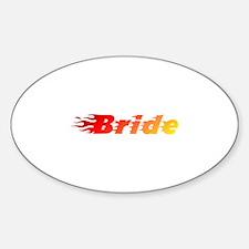 Bride - Blazed Oval Decal