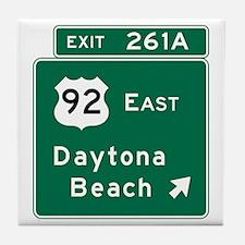 Daytona Beach, FL Tile Coaster