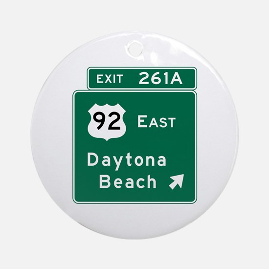 Daytona Beach, FL Round Ornament