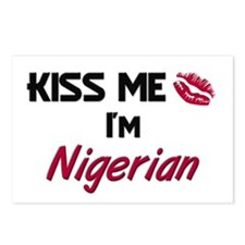 Kiss me I'm Nigerian Postcards (Package of 8)