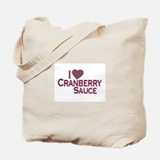 I Love Cranberry Sauce Tote Bag