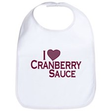 I Love Cranberry Sauce Bib