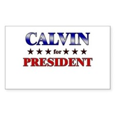 CALVIN for president Rectangle Decal