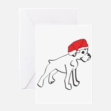 Santa Boxer Greeting Card