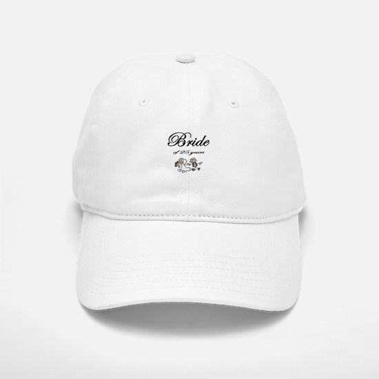 25th Wedding Anniversary Gifts Baseball Baseball Cap