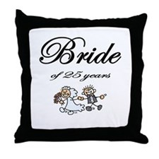 25th Wedding Anniversary Gifts Throw Pillow
