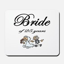 25th Wedding Anniversary Gifts Mousepad