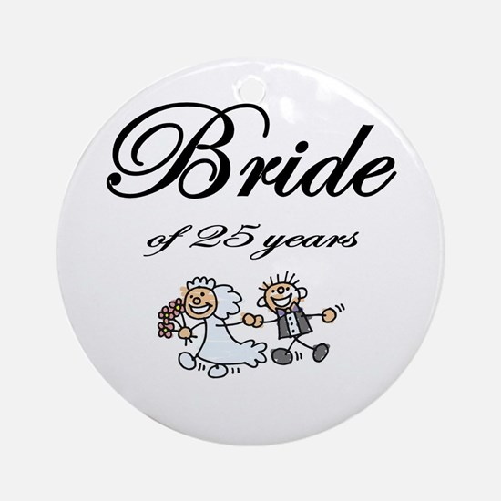 25th Wedding Anniversary Gifts Ornament (Round)