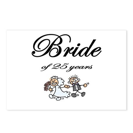 25th Wedding Anniversary Gifts Postcards (Package