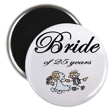 """25th Wedding Anniversary Gifts 2.25"""" Magnet (10 pa"""