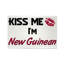 Kiss me I'm New Guinean Rectangle Magnet