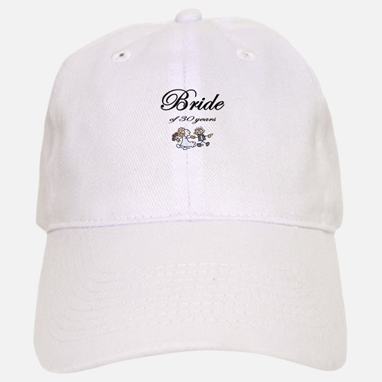 30th Wedding Anniversary Gifts Baseball Baseball Cap