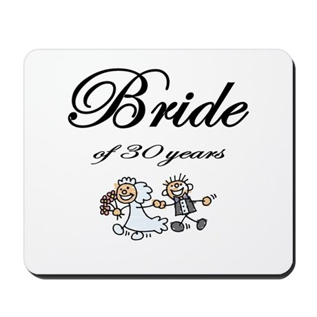 30th Wedding Anniversary Gifts Mousepad