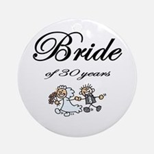 30th Wedding Anniversary Gifts Ornament (Round)