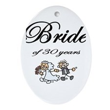 30th Wedding Anniversary Gifts Oval Ornament