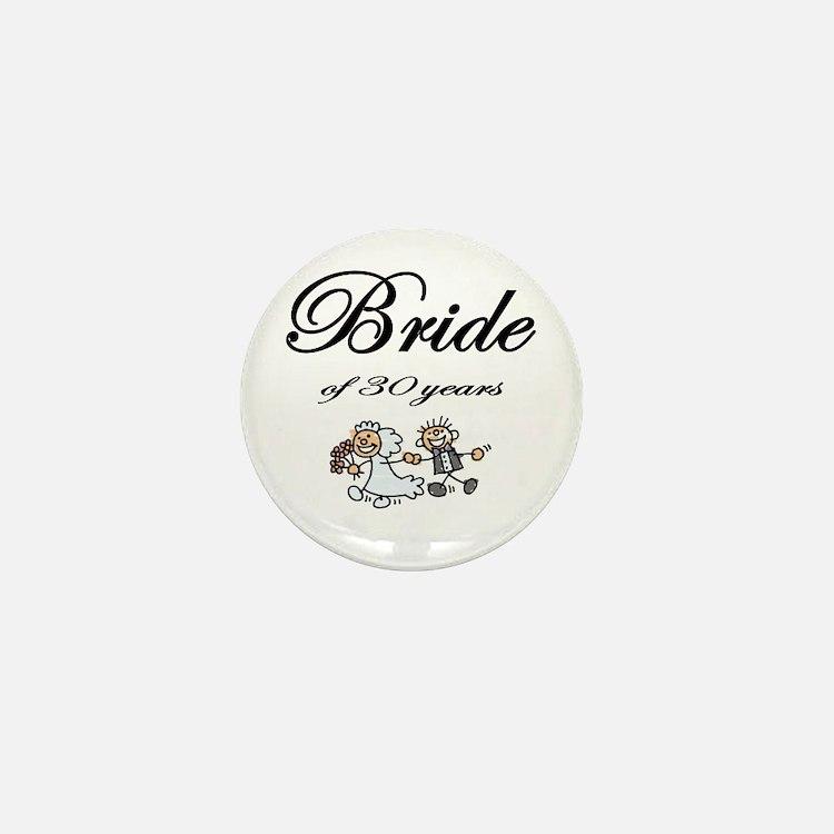 30th Wedding Anniversary Gifts Mini Button
