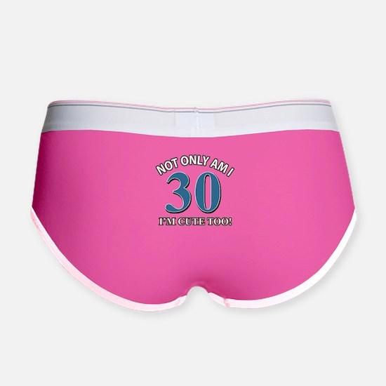 30 birthday design Women's Boy Brief