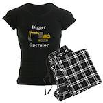 Digger Operator Women's Dark Pajamas