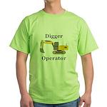 Digger Operator Green T-Shirt