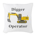 Digger Operator Woven Throw Pillow