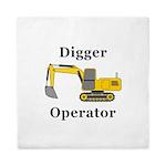 Digger Operator Queen Duvet