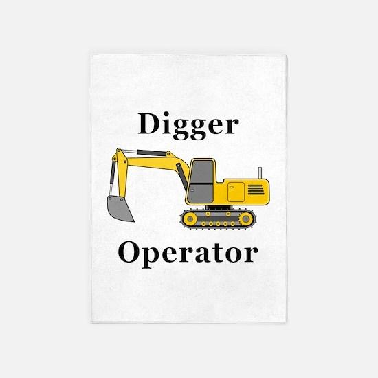 Digger Operator 5'x7'Area Rug
