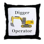 Digger Operator Throw Pillow