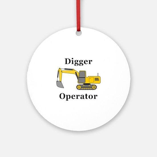 Digger Operator Round Ornament