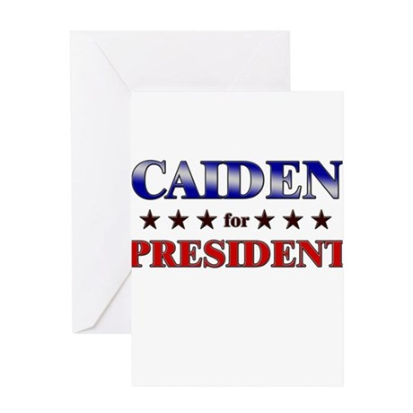 CAIDEN for president Greeting Card
