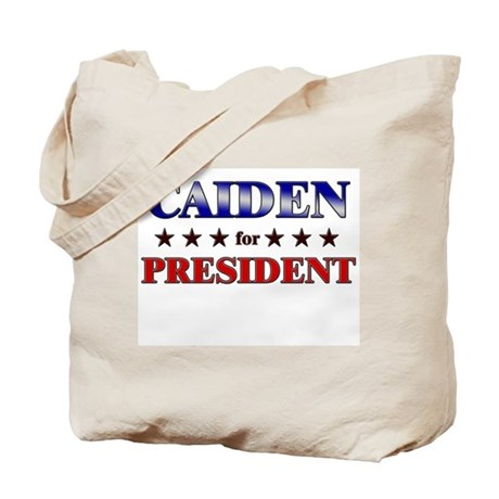 CAIDEN for president Tote Bag