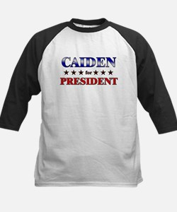 CAIDEN for president Kids Baseball Jersey