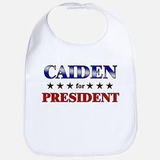 CAIDEN for president Bib