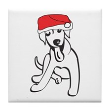 Santa Lab Tile Coaster