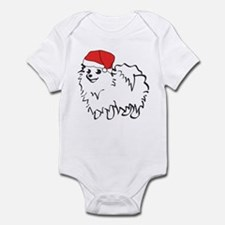 Santa Pomeranian Infant Bodysuit