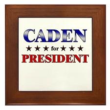 CADEN for president Framed Tile