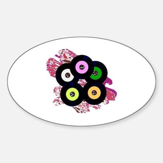 Unique 45 record Sticker (Oval)