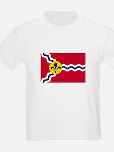 Patriotic Flag of St Louis Missouri T-Shirt