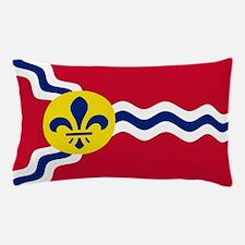 Patriotic Flag of St Louis Missouri Pillow Case