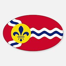 Patriotic Flag of St Louis Missouri Decal