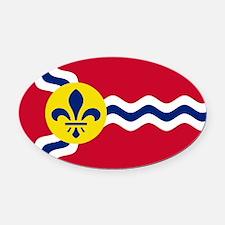 Patriotic Flag of St Louis Missour Oval Car Magnet