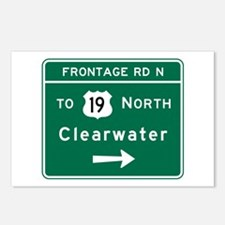 Clearwater, Road Sign, FL Postcards (Package of 8)