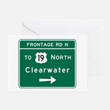 Clearwater, Road Sign, F Greeting Cards (Pk of 10)