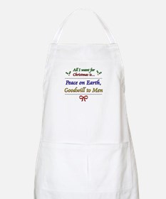 """""""Peace and Goodwill"""" BBQ Apron"""