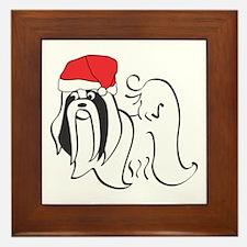 Santa Shih Tzu Framed Tile