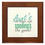 Aunt's the Name! Framed Tile