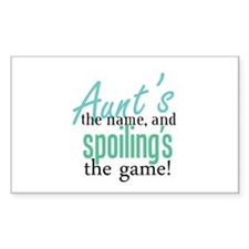 Aunt's the Name! Rectangle Decal